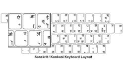 Konkani Language Keyboard Labels