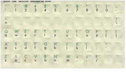Uppercase/Lowercase Keytop Labels