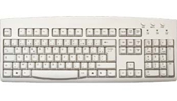 French Language (AZERTY) Keyboard - Beige - PS/2 Connector