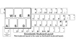 Greenlandic Language Keyboard Labels
