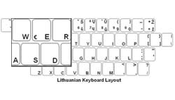 Lithuanian Language Keyboard Labels
