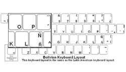 Bolivian (Spanish) Language Keyboard Labels