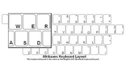 Afrikaans Language Keyboard Labels