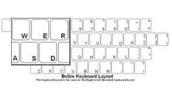 Belieze Language Keyboard Labels