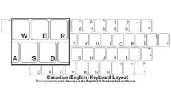 Canadian (English) Language Keyboard Labels