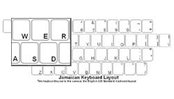 Jamaican Language Keyboard Labels