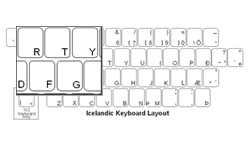 Icelandic Language Keyboard Labels