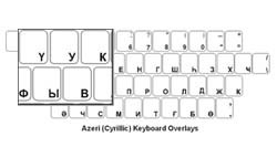 Azeri (Cyrillic) Language Keyboard Labels