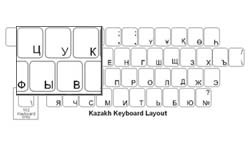 Kazakh Language Keyboard Labels