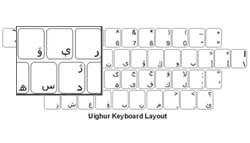 Uighur Language Keyboard Labels