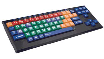 KinderBoard Large Key - Large Print Color Coded Keyboard