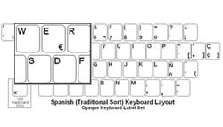 Spanish Language Opaque Keyboard Labels