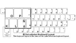 El Salvadorian (Spanish) Language Keyboard Labels