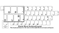 Puerto Rican (Spanish) Language Keyboard Labels