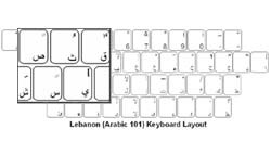 Lebanese (Arabic) Language Keyboard Labels