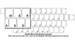 Australian Language Keyboard Labels
