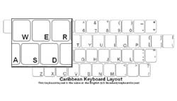 Caribbean Language Keyboard Labels