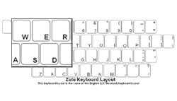 Zulu Language Keyboard Labels