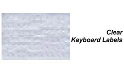 Transparent Data Cover Keyboard Labels