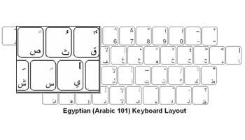 Arabic 101 Opaque Keyboard Labels