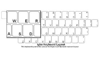 Igbo (Nigeria) Language Keyboard Labels