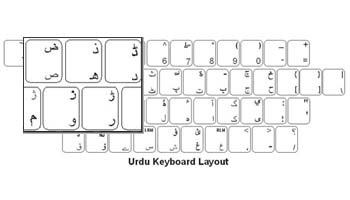 Urdu Labels+ Keyboard - PS/2 Conncector