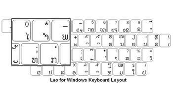 Lao Keyboard Labels