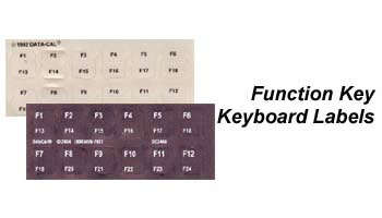 Function Key Keyboard Labels